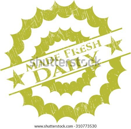 Made Fresh Daily grunge seal