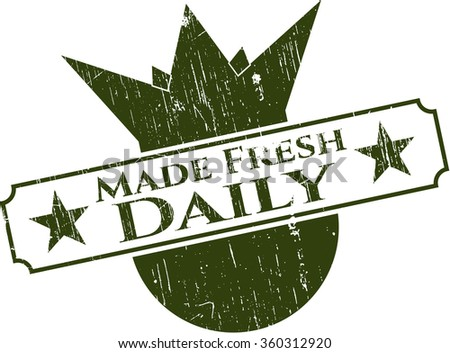 Made Fresh Daily rubber grunge texture stamp