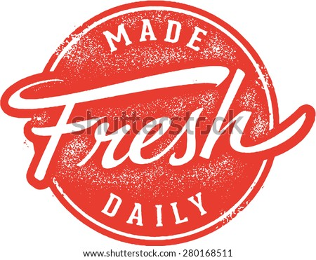 Made Fresh Daily Rubber Stamp