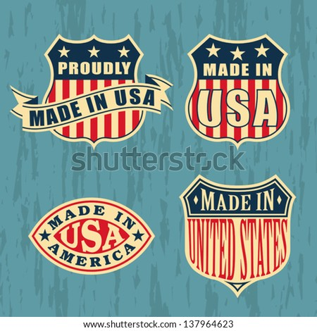 made in america   set of badges ...