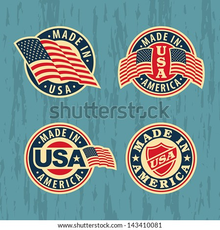 made in america   set of badges