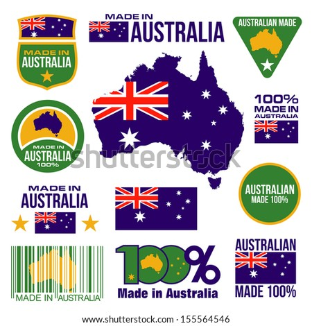 Made in Australia design graphic in vector format