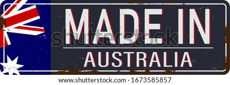 made in australia rusty old