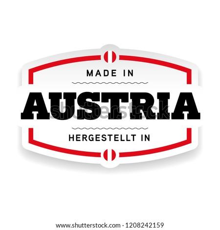 Made in Austria label
