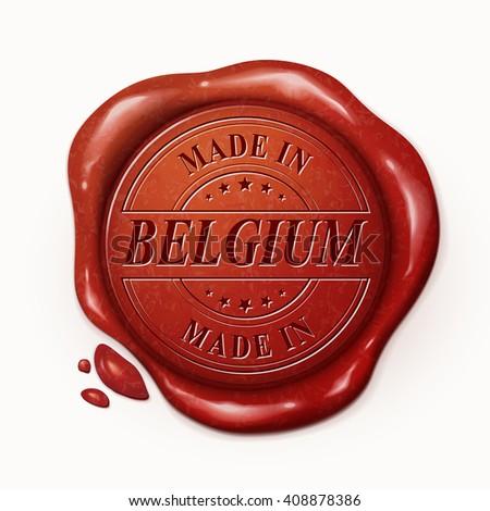 made in belgium 3d illustration