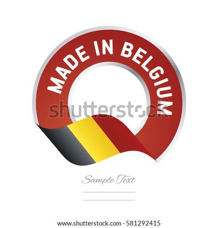 made in belgium flag red color