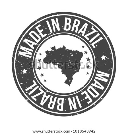 Made in Brazil America Quality Original Stamp Design Vector Art