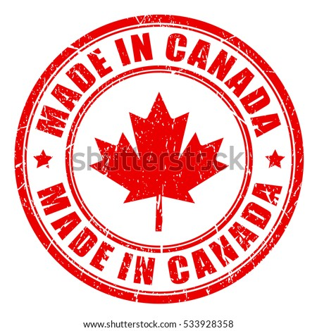made in canada rubber vector