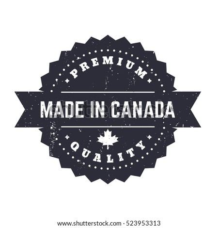 made in canada  vintage badge ...