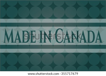 Made in Canada vintage style card or poster