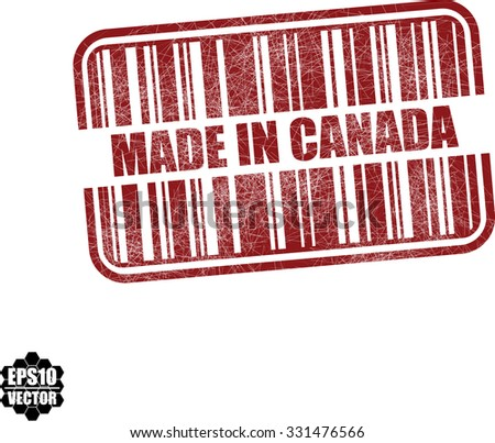 made in canada with barcode and