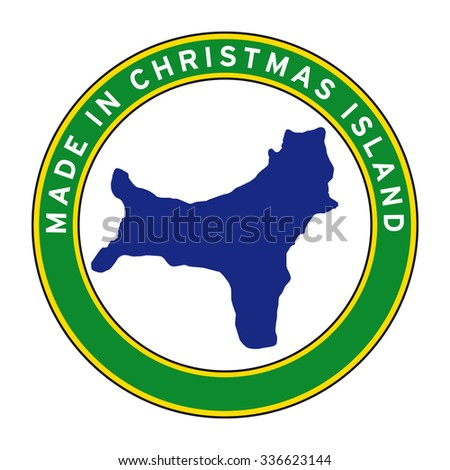 made in christmas island vector