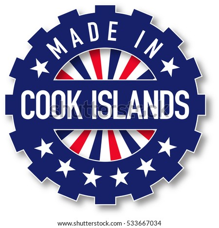 made in cook islands flag color