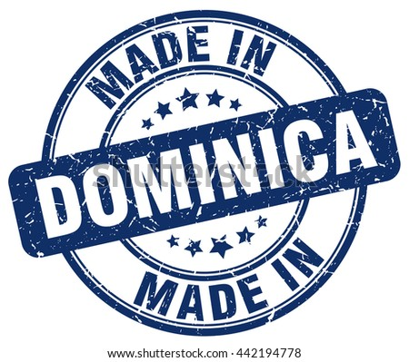 made in dominica blue round
