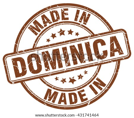 made in dominica brown round
