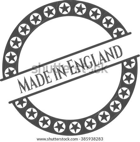 Made in England drawn in pencil