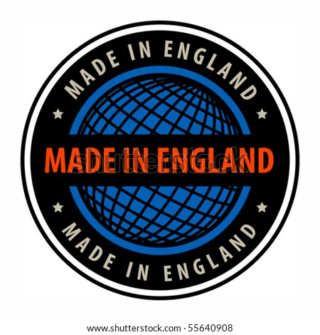 Made in England label, vector illustration