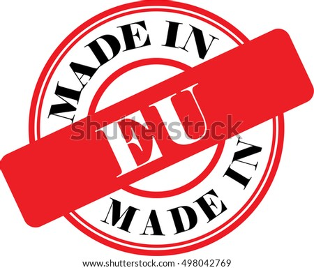 Made in EU vector illustration on white background