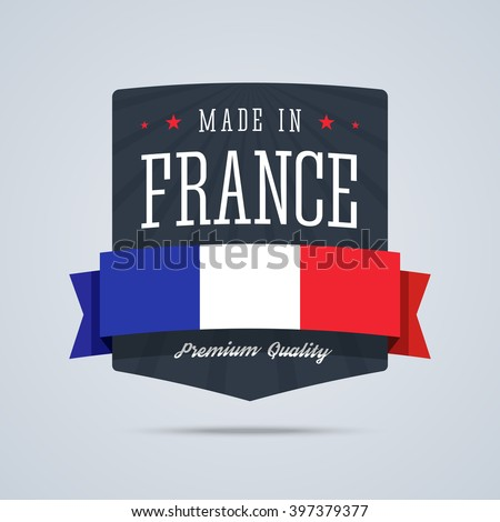made in france badge with