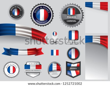 Made in France seal, French flag and color --Vector Art--