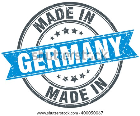made in germany blue round