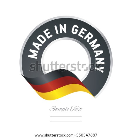 made in germany flag black