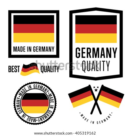 made in germany label set