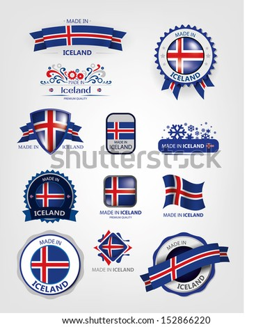made in iceland  seals  flags