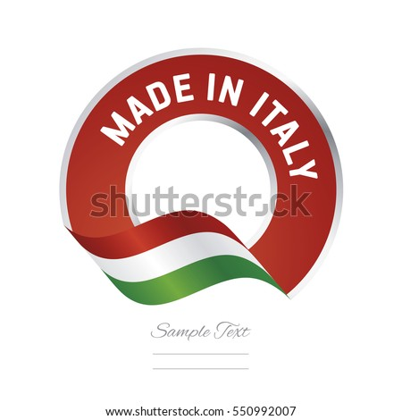 made in italy flag red color