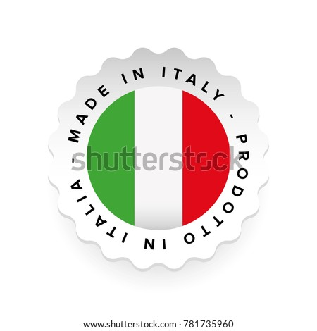Made in Italy - Italian language Prodotto in Italia