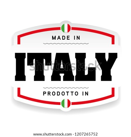 Made in Italy label sign