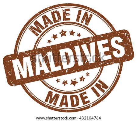 made in maldives brown round