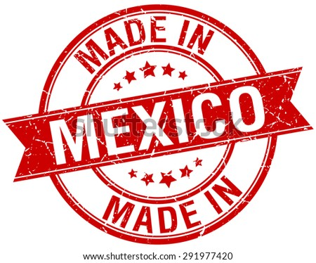 made in mexico red round