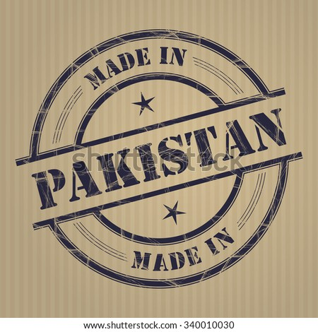 Made in Pakistan grunge rubber stamp