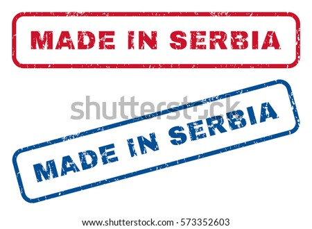 made in serbia text rubber seal
