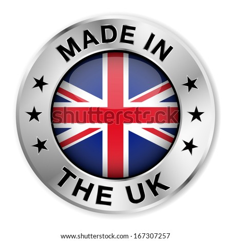 made in the uk silver badge and