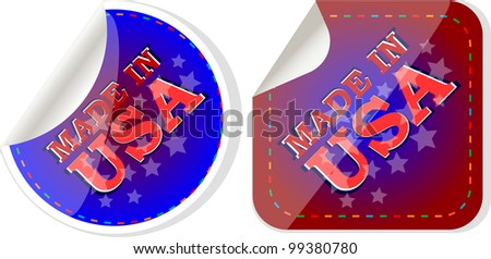 Made in the USA icon label vector set