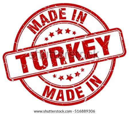 made in Turkey. stamp.