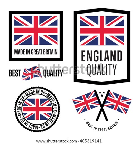 made in uk label set