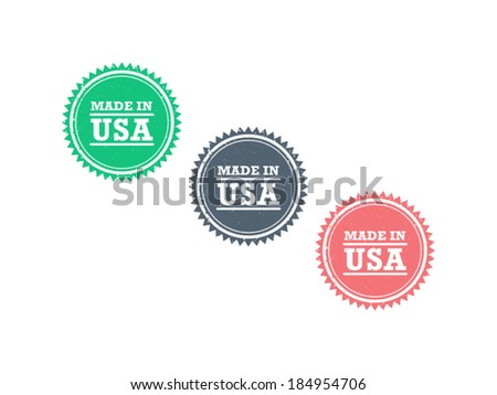 Made In Usa Badges Download Free Vector Art Stock Graphics Images