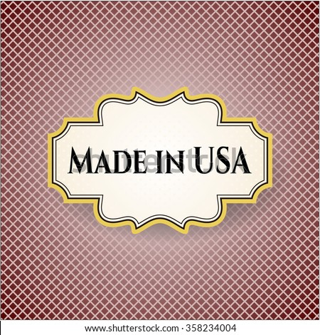 Made in USA banner or card