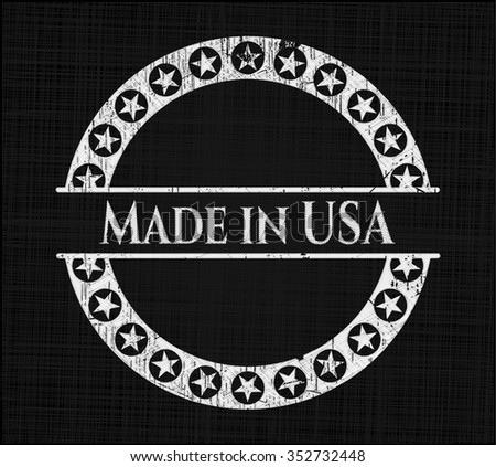 Made in USA chalkboard emblem