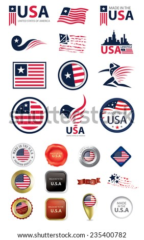 made in usa flag seal