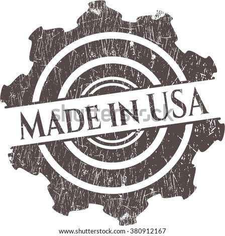 Made in USA grunge style stamp
