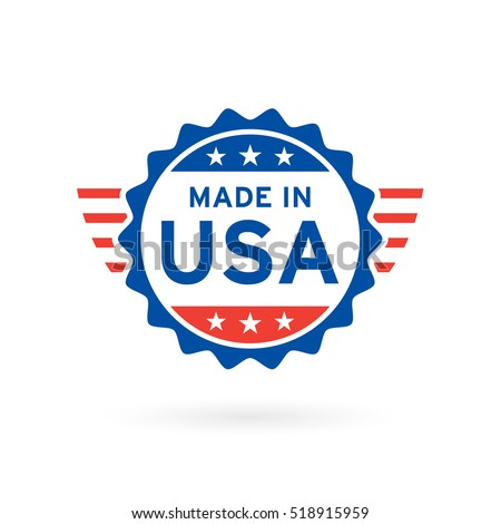 made in usa icon concept badge