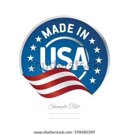 made in usa label logo stamp