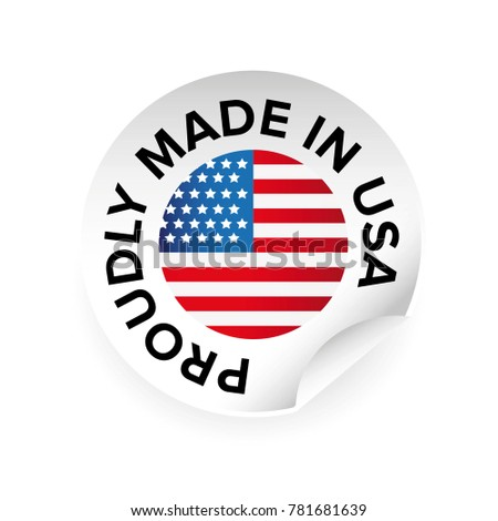 Made in USA label tag