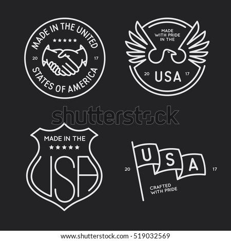 made in usa labels badges...