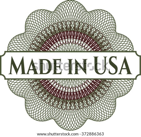 Made in USA money style rosette