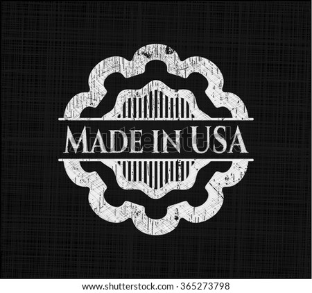 Made in USA on chalkboard